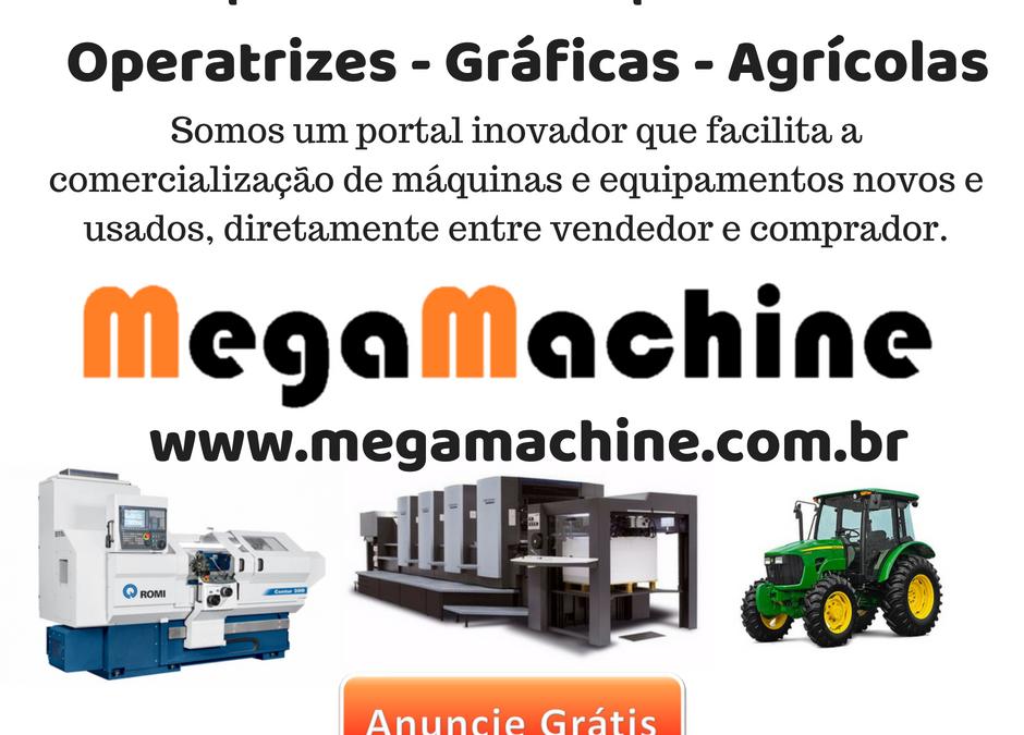 Portal de comercialização de máquinas e equipamentos novos e usados, diretamente entre vendedor e comprador.